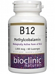 B12 METHYLCOBALAMIN 60 LOZENGES 1000MCG