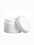 POLYPROPYLENE JAR W/ WHITE DOME CAP 1 OZ