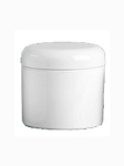 POLYPROPYLENE JAR W/ WHITE DOME CAP 4 OZ