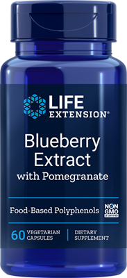 BLUEBERRY EXTRACT WITH POMEGRANATE - 60 Vegetarian Capsules