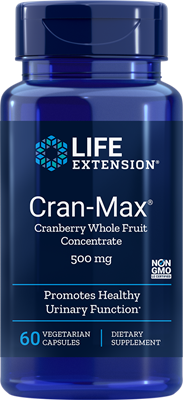 CRAN-MAX® CRANBERRY WHOLE FRUIT CONCENTRATE (500 mg) - 60 Vegetarian Capsules