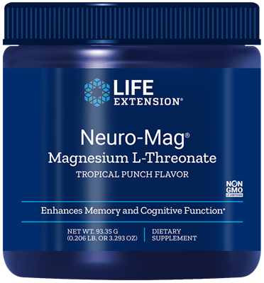 NEURO-MAG™ MAGNESIUM L - THREONATE WITH CALCIUM AND VITAMIN D3 (TROPICAL PUNCH FLAVOR) - 3.293 OZ