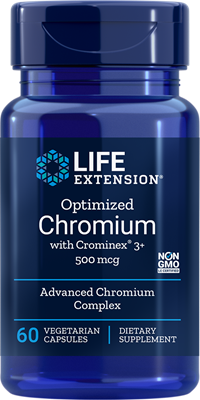 OPTIMIZED CHROMIUM WITH CROMINEX® 3+ (500 mcg) - 60 Vegetarian Capsules