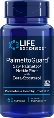 PALMETTOGUARD® SAW PALMETTO/NETTLE ROOT FORMULA WITH BETA-SITOSTEROL - 60 Softgels