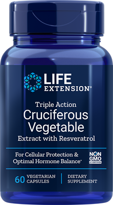 TRIPLE ACTION CRUCIFEROUS VEGETABLE EXTRACT WITH RESVERATROL - 60 Vegetarian Capsules