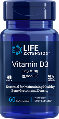 VITAMIN D3 (125 mcg/5,000 IU) - 60 Softgels