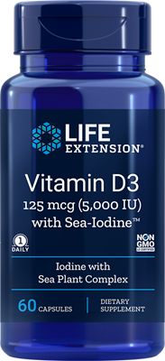 VITAMIN D3 WITH SEA-IODINE™ (5,000 IU) - 60 Capsules