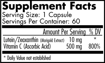 Supplement Facts-Ultimate Eye 2