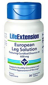 EUROPEAN LEG SOLUTION FEATURING CERTIFIED DIOSMIN 95 (600 mg) - 30 Vegetarian Tablets - DISCONTINUED
