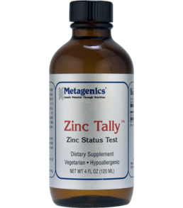 ZINC TALLY-4 FL OZ  FOR ZINC CHALLENGE TESTING