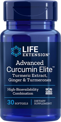ADVANCED CURCUMIN ELITE WITH GINGER & TURMERONES - 30 Softgels
