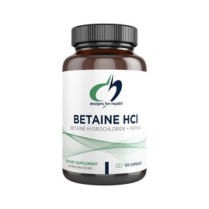BETAINE HCL (WITH PEPSIN) 750 MG 120 CAPSULES