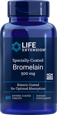 SPECIALLY-COATED BROMELAIN (500 mg) - 60 Enteric Coated Tablets