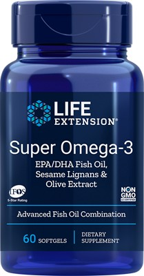 SUPER OMEGA-3 EPA/DHA WITH FISH OIL, SESAME LIGNANS & OLIVE EXTRACT - 60 Softgels
