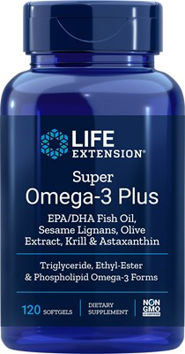 SUPER OMEGA-3 PLUS EPA/DHA WITH FISH OIL, SESAME LIGNANS, OLIVE EXTRACT, KRILL & ASTAXANTHIN - 120 Softgels