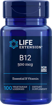 VITAMIN B12 (500 mcg) - 100 Vegetarian Lozenges