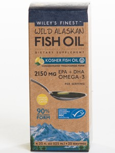 WILD ALASKAN FISH OIL KOSHER 4.23 FL OZ