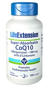 SUPER-ABSORBABLE COQ10 UBIQUINONE WITH D-LIMONENE-100 mg, 100 softgels - DISCONTINUED