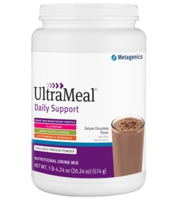 ULTRA MEAL DAILY SUPPORT-DELUXE CHOCOLATE FLAVOR WITH OTHER NATURAL FLAVORS-14 SERVINGS