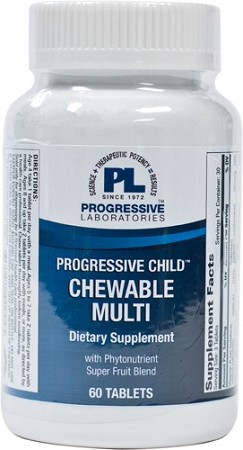 PROGRESSIVE CHILD CHEWABLE MULTI 60 TABLETS-DISCONTINUED